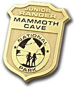 Junior Ranger badge for Mammoth Cave National Park