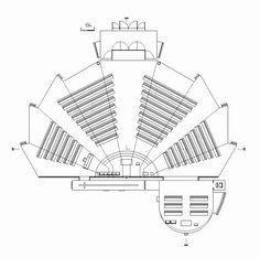 Nossa Senhora das Necessidades Church / Célia Faria   Inês Cortesão Auditorium Plan, Auditorium Architecture, Auditorium Design, Church Architecture, Landscape Architecture Model, Architecture Concept Diagram, Architecture Diagrams, Architecture Portfolio, Architecture Design