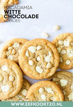 Cookie Desserts, Cookie Recipes, Dessert Recipes, Feel Good Food, Love Food, Macaroon Cookies, White Chocolate Cookies, Food Crafts, Sweet Recipes