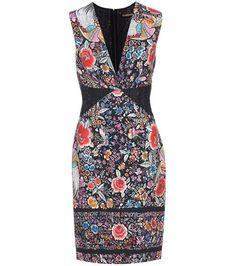 Roberto Cavalli Printed Sleeveless Dress For Spring-Summer 2017