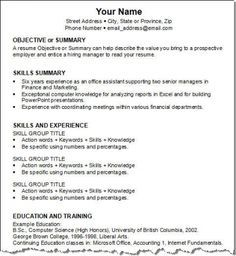 Combination Resume Sample Glamorous Combination Resumehloom  Dtemplates  Pinterest  Sample Resume