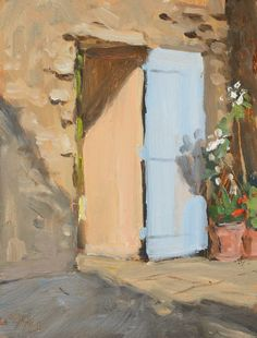 Daily painting Postcard from Provence, a painting a day by Julian Merrow-Smith; paintings fresh daily from the British painter's studio in Provence Painters Studio, Daily Painters, Building Painting, Art Plastique, Provence, Photo Art, Italy, Colours, Drawings