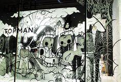 "TOPMAN, ""Halloween:the cold air,the spooky dangers lurking around the corner"", pinned by Ton van der Veer"