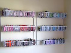 ClosetMaid pantry organizers; Love this for ribbons & tulle for gift closet