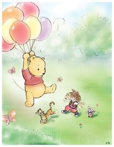 Ah Pooh's 100 acre woods. I sucked at maneuvering the balloon away from the bees. FAIL EVERY TIME! Haha I always enjoyed the background music though...