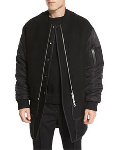 Double-Layer+Bomber+Jacket/Vest+Combo+by+Juun+J+at+Neiman+Marcus.