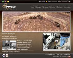 Desenvolvimento de site para empresa Damasco Penna, especialista em Engenharia Geotécnica. Houve também, o  desenvolvimento de uma área segura para os clientes, em Ruby on Rails, para faclitar a troca de documentações.