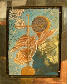 Georgy Likhovid : engel van de Peter en Paul vesting 2008 enamel on steel, plated Russian enamel art in 2009 at the Museum of flat glass and enamel art Ravenstein