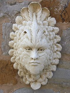Garden Ornaments : Green Man Garden Ornaments : Stone Garden Ornament 'Venetian Mask