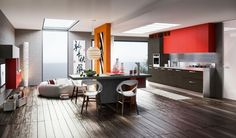 Küchengestaltung Ideen platzsparende Küchenmöbel Design Kochinsel