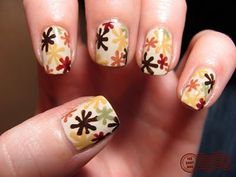 Retro Flowers: I think I have enough neutrals to do this.