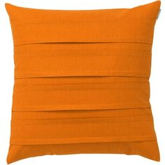 Spira Pleat Cushion Cover - Orange