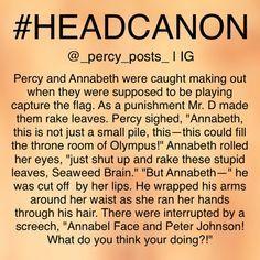 percabeth in high school headcanon Percy Jackson Annabeth Chase, Percy Jackson Head Canon, Percy Jackson Ships, Percy Jackson Fan Art, Percy And Annabeth, Percy Jackson Memes, Percy Jackson Books, Percy Jackson Fandom, Tio Rick