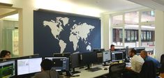 Creative Office Branding using wall graphics from Vinyl Impression, #Office #Wall #Graphics #branding #office #map