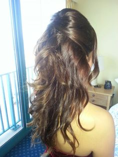Bridesmaid hairstyle$waves#weddinghair#orlandohairstylist