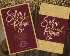 Items similar to Gold and Burgundy Confetti Circles, with Shiny Gold and Premium Gold Glitter, Wedding Decorations, Hollywood Party Decor, Paper Confetti on Etsy