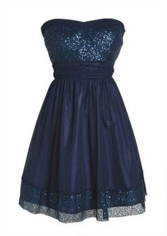 Sequin Trim Dress in Dresses from Delias