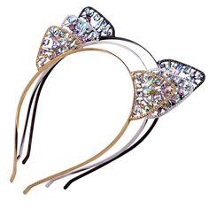 Girls Sequins Hairband Cat Ear Headband Women Children Party Gifts Pip