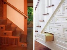 Beautiful Design of Storage under Stairs; Maximize Your Unused Space with Function : Modern Drawer Built In Under Stairs Storage Ideas