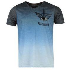Firetrap | Firetrap Dip Logo T Shirt Mens | T Shirt Mens