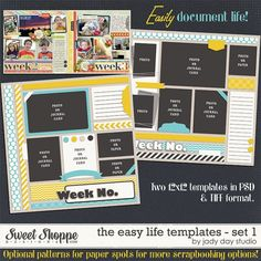 The Easy Life Templates Set 1 by Jady Day Studio