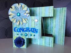 Handmade Congrats Blank Greeting Card by JuliesElegantCrafts, $7.99  Check out the link for promotions, freebies, or discounts!