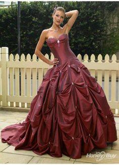 Corset Strapless Red Wedding Dress  @Jess Liu Massoth Bride