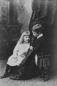 Princess Alice and Charles Edward, Duke of Albany, 1889 [in Portraits of Royal Children Vol.37 1888-1889] | Royal Collection Trust