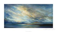 Coastal Clouds XVIII Premium Giclee Print by Sheila Finch at AllPosters.com