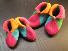 Ravelry: Elfin Felted Booties pattern by Tina Whitmore