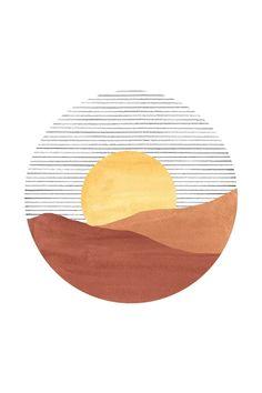 Sunset Canvas, Sunset Art, City Sunset, Sunset Beach, Minimalist Art, Art Inspo, Art Drawings, Abstract Drawings, Abstract Backgrounds