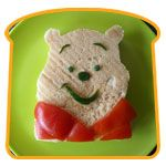 Winnie the Pooh Sandwich! Tina would like this one!
