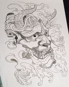 "69 Likes, 3 Comments - Sheridin Aka. Miss Wednesday (@sheridizzleyo) on Instagram: ""Trying my hand at a black and grey Hannya #Hannya #tattooArt #oriental #tattooflash #drawing…"""