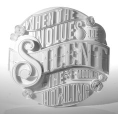 Type Sculptures + Animation by Ben Johnston, via Behance Typography Letters, Graphic Design Typography, Lettering Design, Graphic Design Illustration, Hand Lettering, Inspiration Typographie, Typography Inspiration, Graphic Design Inspiration, Impression 3d
