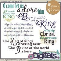 The Coming King: Word Art by Precepts and Promises @DigitalsStore possibility for Christmas cards