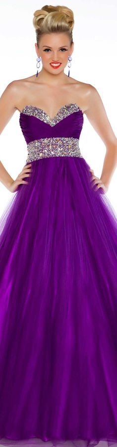 Mac Duggal couture dress has bling which could be added to a too low gown (or lace over a colour would work)