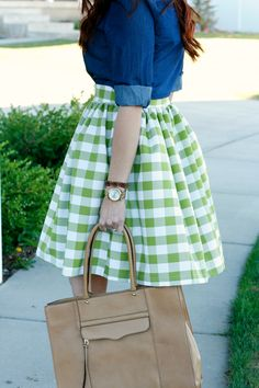 gingham and chambray. Have the chambray. Need the skirt.  #stitchfix