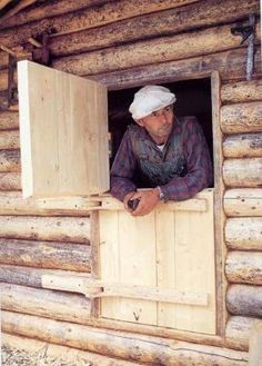 Dick Proenneke, a particular hero of mine, built this cabin completely with a handful of hand tools. Alaska wilderness.  60's thru 90's.  Alone.           ~ Libby