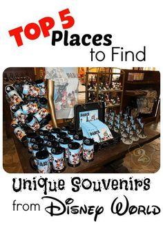 Top 5 places to find unique souvenirs at Walt Disney World. #travelideas #familyvacation