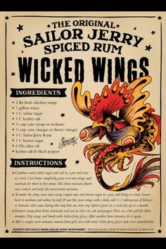 Sailor Jerry Chicken Wings