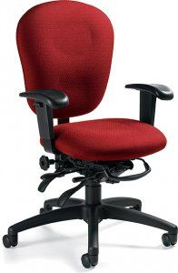 """Global SCALE 1 MULTI-TILTER Narrow seat width, shallow seat depth. 4"""" pneumatic lift standard. Height and width adjustable arms SKU: 3021-3 Our mission is to produce products of world class design that the average person can afford. Global offers a very broad range of products and services to meet the needs of today's changing workplace.  Call for more Fabric options Availability: 12 Available Color(s) Pricing: $541.76"""