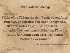 Aus: Der Moderne Knigge – Julius Stettenheim: Leitfaden für den Sommer - beim Picknick #Zitate #LeLiFe