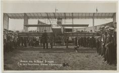 A postcard image of Houdini in his Voisin bi-plane in Australia. Note that his assistant, James Vickery, is in the shot. Looks like a dog also got in on the action.