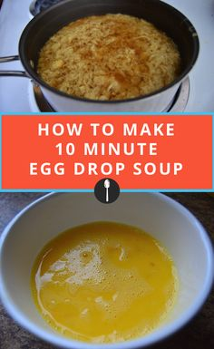 Make Chinese take out at home with this quick egg drop soup recipe.