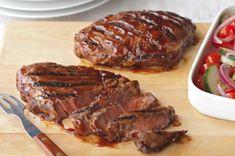 Grilled Southwestern Steak recipe...2  boneless beef rib-eye steaks (1 lb.), 3/4 inch thick  2tsp.  olive oil  1Tbsp.  TACO BELL® HOME ORIGINALS® Taco Seasoning Mix  1/4cup  A.1. Original Steak Sauce