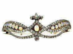 Opal and diamond tiara