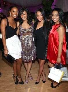 Black Beauties Eva Marcille, Tia Mowry, Lauren london, & Kyla Pratt