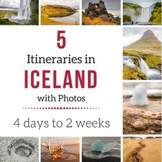 5 Iceland itinerary suggestions with detailed Stop by Stop in photos - Iceland itinerary 4 days, Iceland itinerary 7 days, one week in Iceland, Iceland itinerary 10 days... All the best sites you could enjoy!