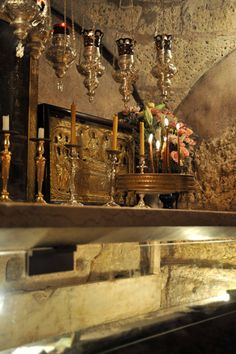 Alternate view of the Tomb of the Blessed Virgin Mary, (Theotokos), Jerusalem, Israel Mother Of Christ, Asia City, Jerusalem Israel, Blessed Virgin Mary, Holy Land, Roman Catholic, World, Bobby, Places