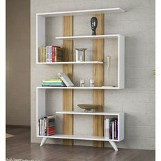 Shop for A Zillion Things Home across all styles and budgets. brands of furniture, lighting, cookware, and more. Enjoy free UK delivery over even for big stuff. Cool Bookshelves, Modern Bookshelf, Wooden Bookcase, Etagere Bookcase, Bookshelf Design, Bookcase Shelves, Wood Shelves, Plywood Bookcase, Bookcases